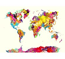 world map color Photographic Print