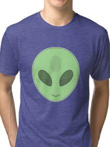 Cartoony Alien Tri-blend T-Shirt