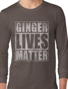 Vintage Fade Ginger Lives Matter St Patrick's Day Long Sleeve T-Shirt