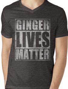 Vintage Fade Ginger Lives Matter St Patrick's Day Mens V-Neck T-Shirt