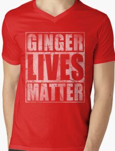 Vintage Fade Ginger Lives Matter St Patrick's Day Mens V-Neck T-Shirt