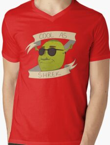 Cool As Shrek Mens V-Neck T-Shirt
