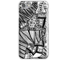 Wave Pattern Zentangle  iPhone Case/Skin