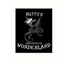 Buffy's  Adventures in Wonderland II Art Print