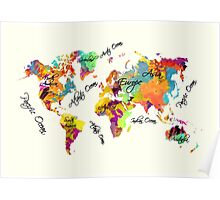 world map text color Poster