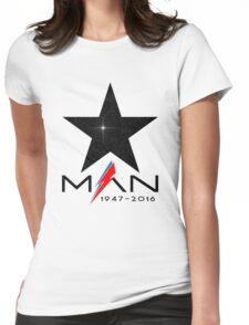 RIP Starman (David Bowie) 1947-2016 Womens Fitted T-Shirt