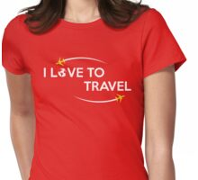 I Love To Travel T Shirt Womens Fitted T-Shirt