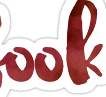 #booklr (Red) Sticker