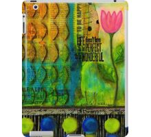 Life Doesn't Have to be Perfect to be GOOD iPad Case/Skin