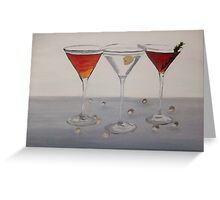 Cocktails oil painting Greeting Card