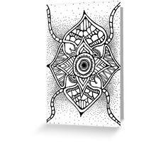 Starry Sky Mandala  Greeting Card