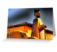 San Felipe de Neri Looms Over Old Town ABQ~Parade Ready Greeting Card