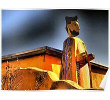 San Felipe de Neri Looms Over Old Town ABQ~Parade Ready Poster