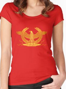 Roman Golden Eagle Women's Fitted Scoop T-Shirt