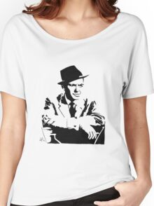 Frank Sinatra silhouette Women's Relaxed Fit T-Shirt