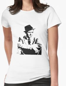 Frank Sinatra silhouette Womens Fitted T-Shirt