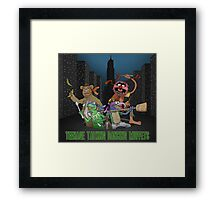Teenage Talking Dancing Muppets Framed Print