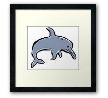 mean dolphin Framed Print