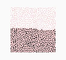 Girly Chic Pink Black and White Drawn Polka Dots Classic T-Shirt