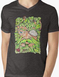Odin/The Green Man Mens V-Neck T-Shirt