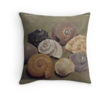 Lucy's Snack (Shell Still Life) Throw Pillow
