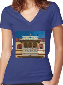 City Palace Porch Women's Fitted V-Neck T-Shirt
