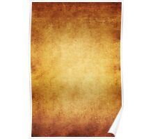 Yellow Brown Parchment Paper Texture Background Poster