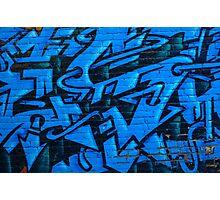 Blue Street Art Photographic Print