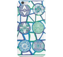 Aqua Circle Pattern Zentangle  iPhone Case/Skin