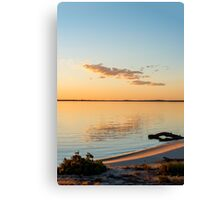 Dusk at Lake Bonney Canvas Print