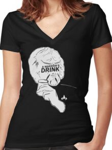 WORF'S PRUNE JUICE...A WARRIOR'S DRINK Women's Fitted V-Neck T-Shirt
