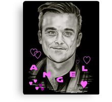 Angel-Heart in Black Canvas Print