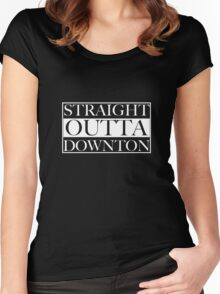 Straight Outta Downton Women's Fitted Scoop T-Shirt