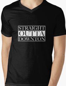 Straight Outta Downton Mens V-Neck T-Shirt