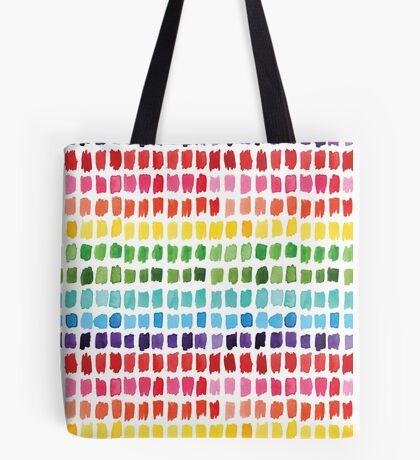 Rainbow Brushstrokes Tote Bag