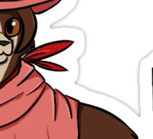 """Mewcy Wright"" Ace Attorney Inspired Cat Sticker Sticker"