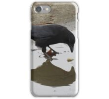 Crow Mirror Reflection  iPhone Case/Skin