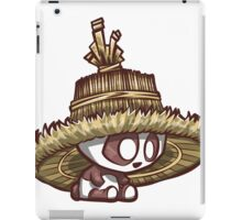 Panda with Oversized Rice Hat iPad Case/Skin