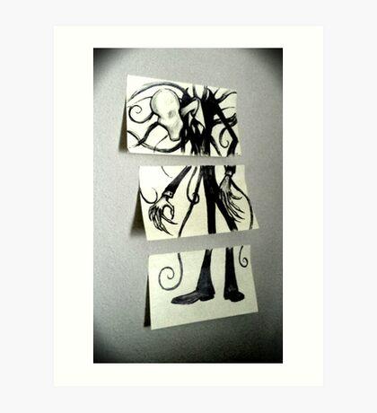 Sticky Slender Art Print