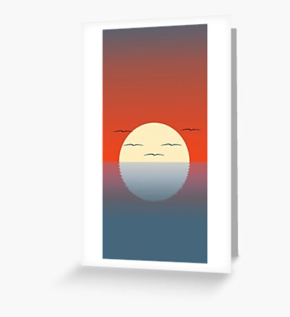 Birdy Sunset Greeting Card
