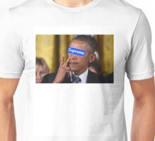 Obama walks into Supreme Newyork Unisex T-Shirt