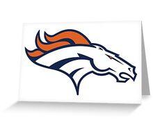Denver Broncos logo Greeting Card