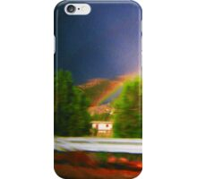 what happens in the rainbow stays in the rainbow iPhone Case/Skin