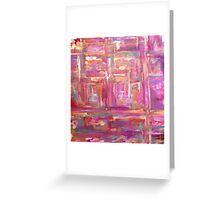 pieces of purple  Greeting Card
