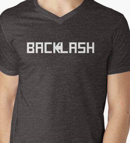BACKLASH logo - white Mens V-Neck T-Shirt