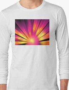 Magenta Sunrise Long Sleeve T-Shirt