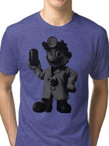 B&W Dr. Mario Tri-blend T-Shirt