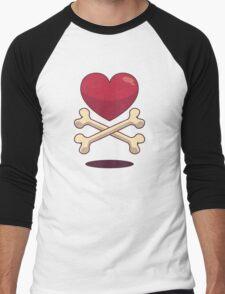 bone up on love Men's Baseball ¾ T-Shirt