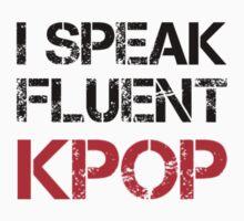 I SPEAK FLUENT KPOP - GREY Kids Tee