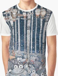 Owl Forest Graphic T-Shirt